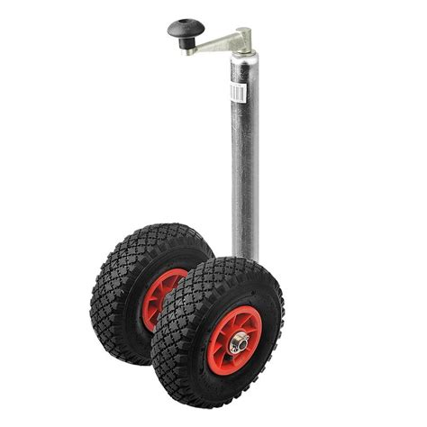 Pneumatic Tire Trailer Jockey Wheel Crank Pneumatic Tires Caravan E