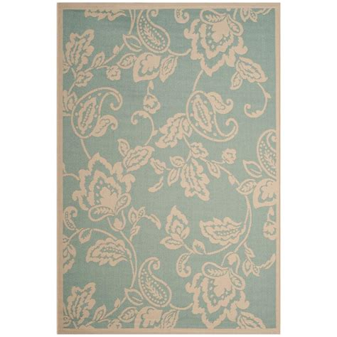 Safavieh Martha Stewart Aqua Beige 5 Ft 3 In X 7 Ft 7 Martha Stewart Outdoor Rugs