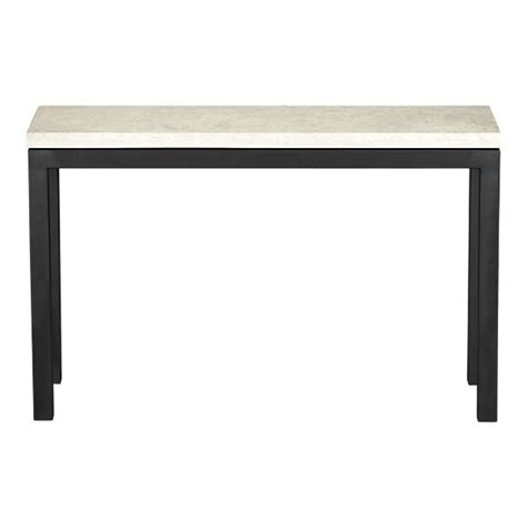Parsons Console Table Parsons Console Table With Travertine Top