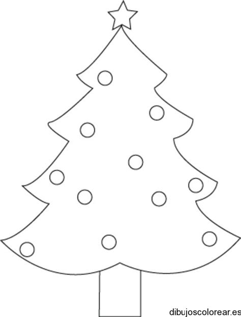 arbol de navidad para calcar dibujo de la silueta de un 225 rbol