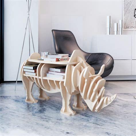tavolo a mensola tavolo rinoceronte in legno per la casa mensola per libri