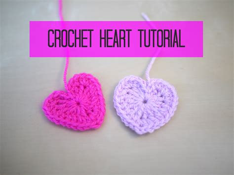 crochet heart pattern free youtube crochet heart tutorial bella coco youtube