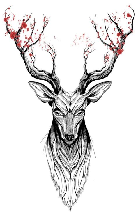 elk tattoos designs 25 best ideas about deer on reindeer
