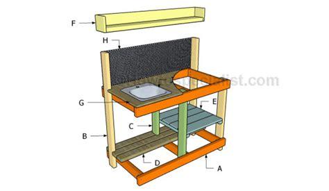 building a potting bench potting bench with sink plans howtospecialist how to