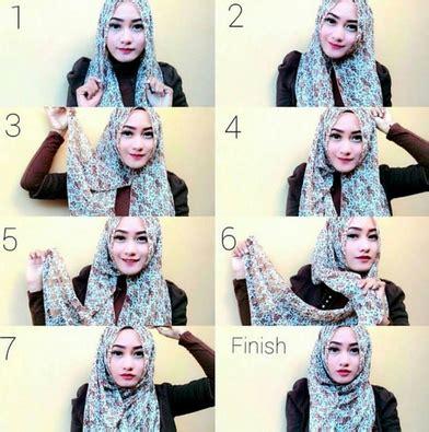Foto Cara Memakai tips cara memakai jilbab yang praktis dan cantik bagi perempuan muslimah kumpulan contoh
