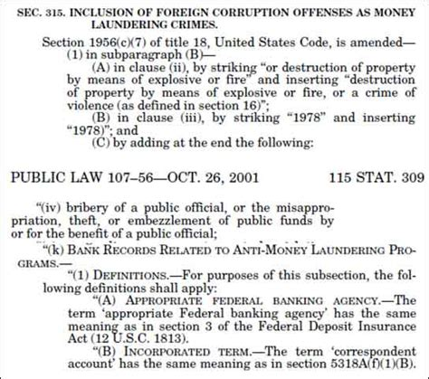 patriot act section 311 amlc report details interesting dollar movements in corona