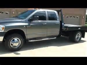 Dodge Flatbed For Sale 2008 Dodge Ram 3500 Slt Diesel 4x4 Flat Bed For Sale See