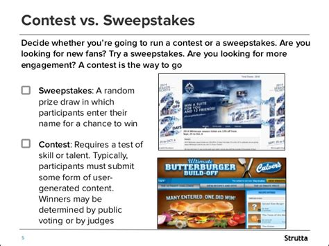 Contests Vs Sweepstakes - your promotions checklist everything you need to launch a contest o