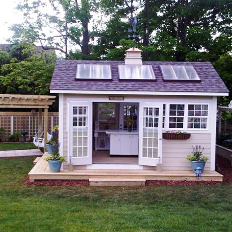 how to build a she shed outdoor home why not build a solar powered shed modernize
