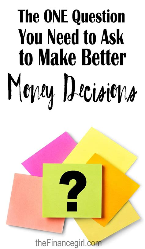 how to make better decisions with money and the most