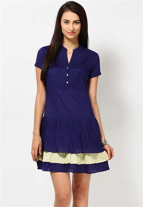 Patio Dresses by Casual Dresses As As It Gets Navy Blue Dress
