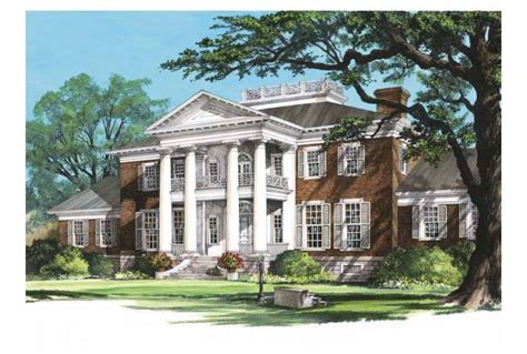plantation home blueprints eplans plantation house plan sycamores 10735 square and 6 bedrooms from eplans house