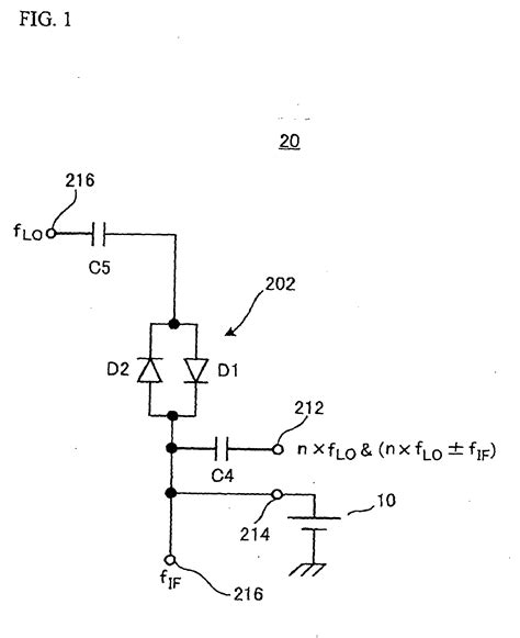 antiparallel diode patent ep1605585b1 harmonic mixer using anti parallel diodes patents