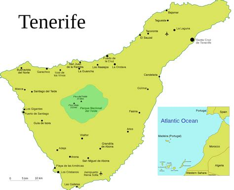 tenerife on a world map tenerife spain map