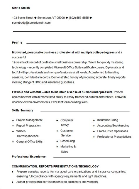 functional resume templates free functional resume