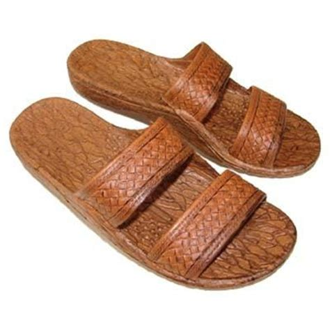 hawaiian brand sandals imperial import brown slide unisex slippers hilo hattie