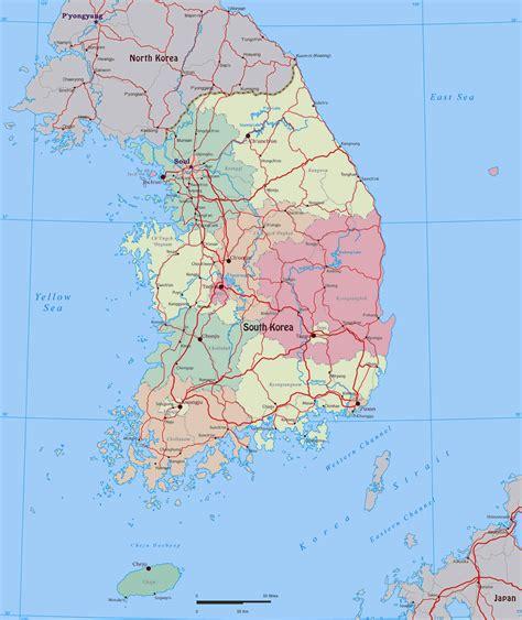 map usa to korea maps of south korea detailed map of south korea in