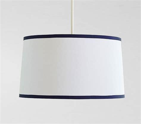 pottery barn flush mount light white navy drum flushmount light pottery barn