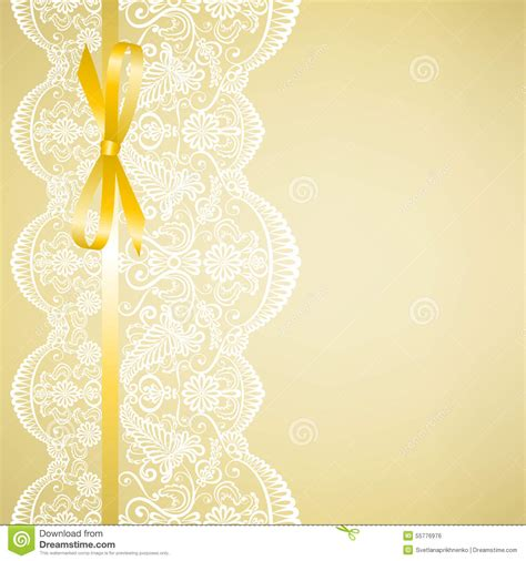 Wedding Invitation Background Yellow by Lace On Yellow Background Stock Vector Image Of Yellow