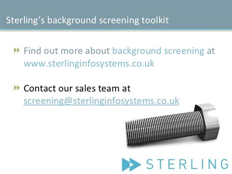Sterling Systems Background Check What Is Background Screening