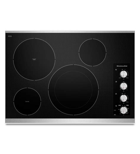 30 Inch Cooktop Electric 30 inch 4 element electric cooktop architect 174 series ii kecc604bss stainless steel