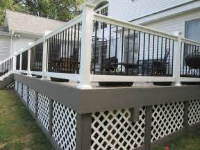 gray deck deck railings st louis decks screened porches