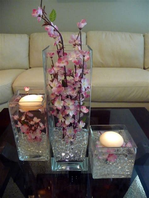 adorable glass vase decorations centerpieces with candles