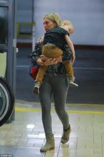 Hilary Admits To Feeling Pressure To Get by Hilary Duff S Luca Cannot Even Keep His Open