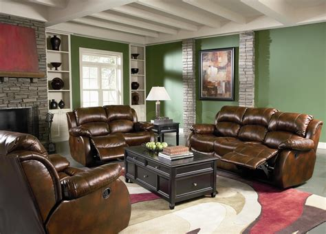 Green Living Room Furniture Colored Leather Living Room Sets Living Room