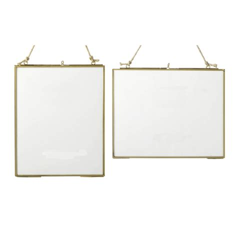 hanging a frame brass glass hanging frame by all things brighton beautiful