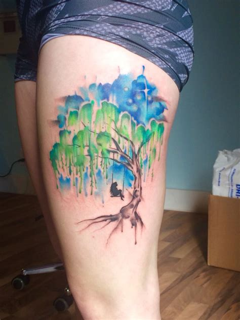 watercolor tattoo portland or my new beautifully done by lindsay