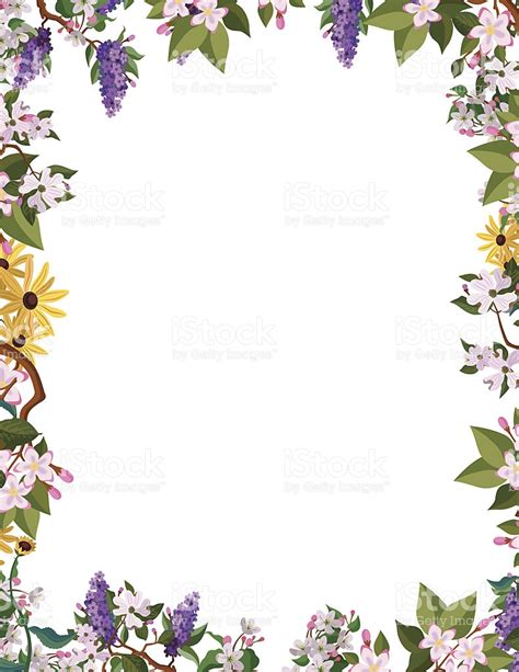 flower border frame stock vector art 481945827 istock