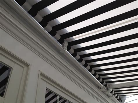 And White Striped Awning by Retractable Awning Black White Stripe Traditional