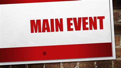 powerpoint presentation templates for events main event