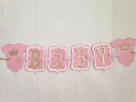 Princess Baby Shower Banner by Princess Baby Shower Banner Pink And Gold Banner
