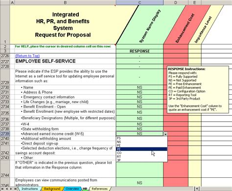 Outsourcing Risk Assessment Template by Hr Payroll Outsourcing Rfp Evaluation Selection