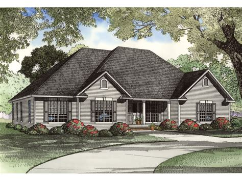 salvador traditional ranch home plan 055d 0683 house