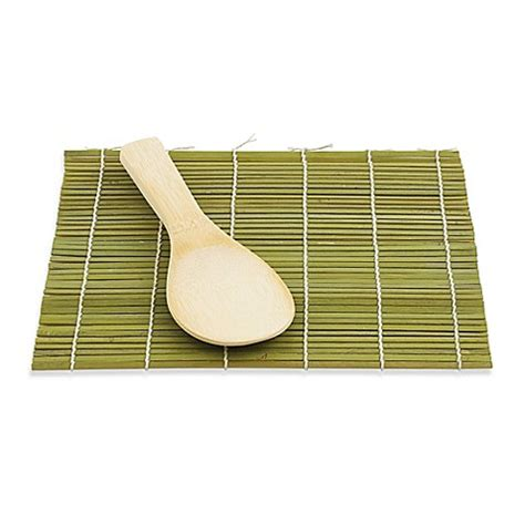 sushi making kit bed bath and beyond buy helen chen s asian kitchen bamboo sushi mat and paddle