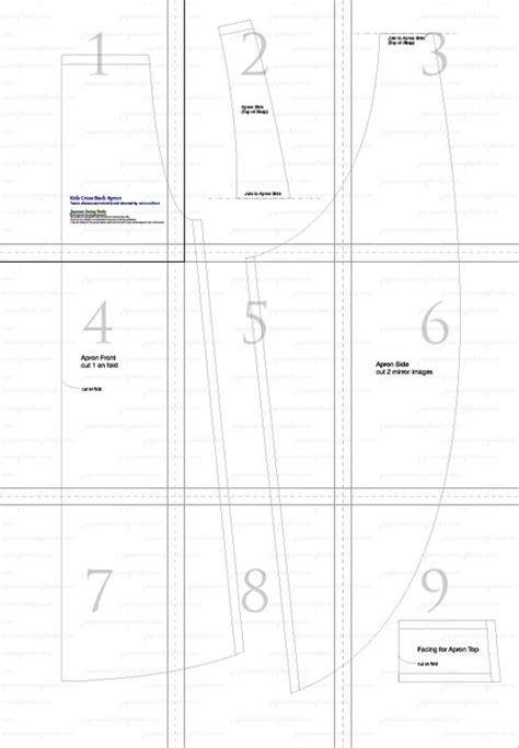 japanese pattern pdf free pattern tutorial and sewing video cross back apron