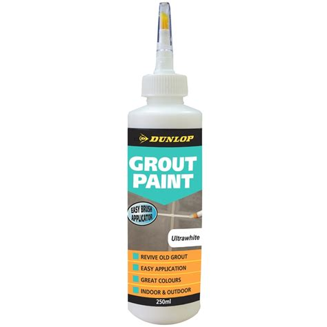 dunlop 250ml grout paint ultrawhite bunnings warehouse