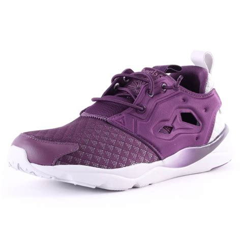 womens reebok sneakers reebok furylite womens synthetic mesh purple trainers