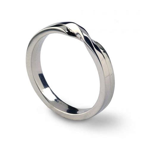knot ring sterling silver wedding band unique mens