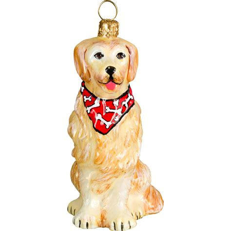 golden retriever dog ornament