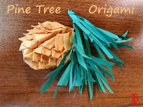 origami pine tree pine tree origami by adnileb on deviantart