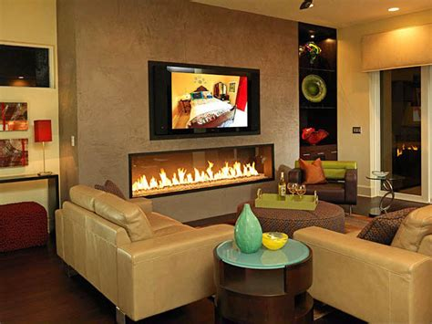 living room with tv and fireplace photo page hgtv