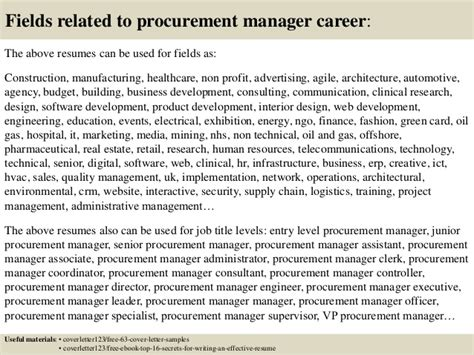 purchasing manager cover letter top 5 procurement manager cover letter sles