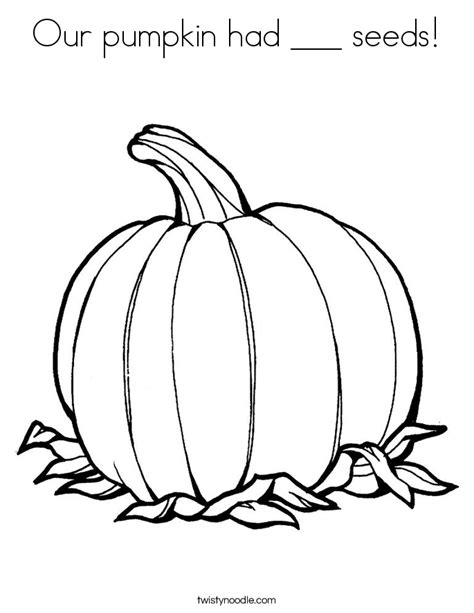coloring pages of pumpkin seeds our pumpkin had seeds coloring page twisty noodle