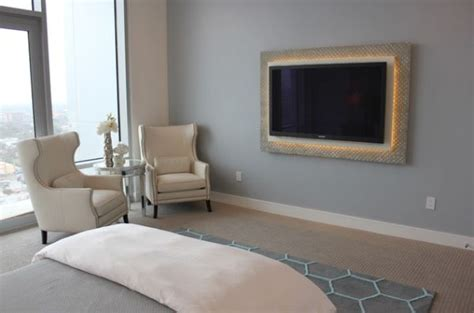 design tv frame using led lighting in interior home designs