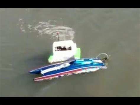 traxxas boat windshield custom rc boat retrieval recovery via push youtube
