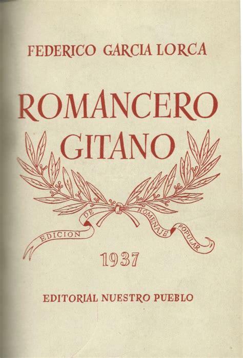 libro romancero gitano palabras contra la barbarie 80grados